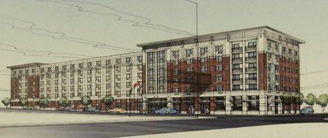 Newest rendering unveiled for the Courtyard by Marriott Hotel, part of Harrison Square