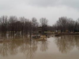 Headwaters Park under water