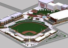 Newest renderings of the Harrison Square Ballpark
