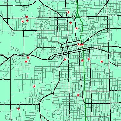18 Cell Towers mapped within 3.2 Kilometer distance of the recently proposed Broadway site, now defunct