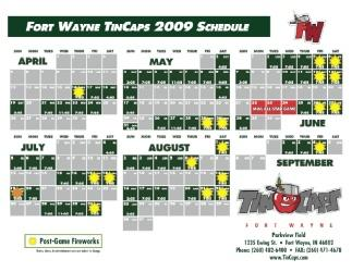 Click here to download the pdf version of the TinCaps schedule.