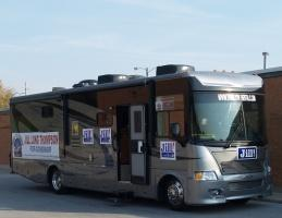 Governor Candidate Jill Long Thompson's RV