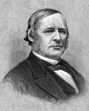 Engraving of Hugh McCulloch.  Allen Thorndike Rice, editor, Reminiscences of Abraham Lincoln