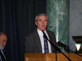 Mayor Tom Henry at the IPFW Remnant Trust kick-off at the Allen County Courthouse.