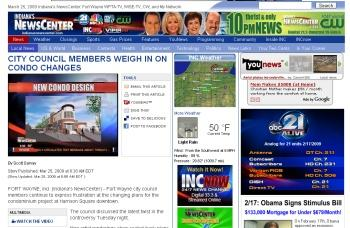 Screen capture from the www.indianasnewscenter.com website