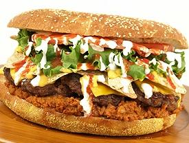Courtesy photo of the Fifth Third Burger, available at the Fifth Third Ballpark in Comstock, Michigan, home to the West Michigan Whitecaps Class A team.