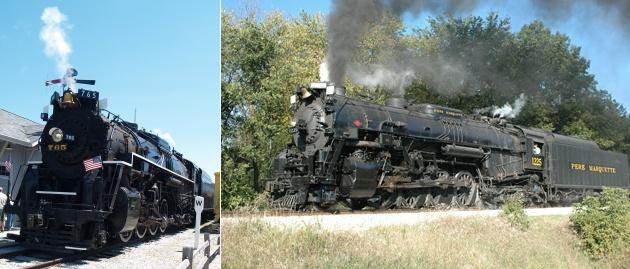 The 765 photo is AFW's while the 1225 is from www.michigansteamtrain.com