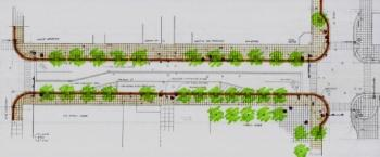 Sketch of Calhoun Street widening project, courtesy of the City.