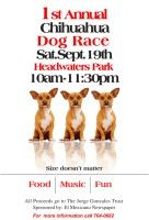 1st Annual Chihuahua Dog Race flyer