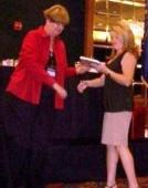 Allen County Assessor Stacey O'Day receiving her award.  Photo courtesy of Allen County.