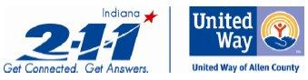 2-1-1 and United Way of Allen County logo