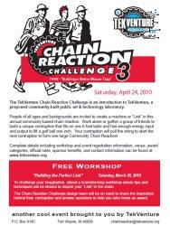 Click here to download the Tek Venture Chain Reaction 3 flyer
