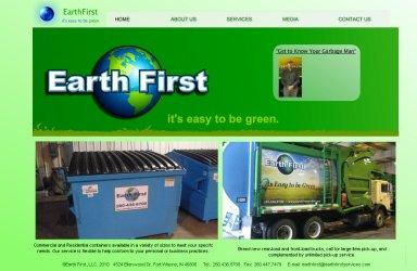 Screen capture of the Earth First website.  Click on this image to visit their website.