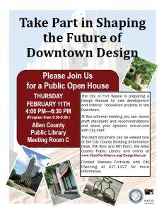 Click here to download a flyer for the February 11, 2010, Downtown Design Guidelines Open House.