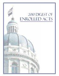 Cover of the 2010 Digest of Enrolled Acts.
