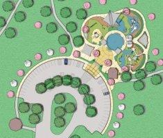 Conceptual drawing of Fort Wayne's first Boundless Playground.