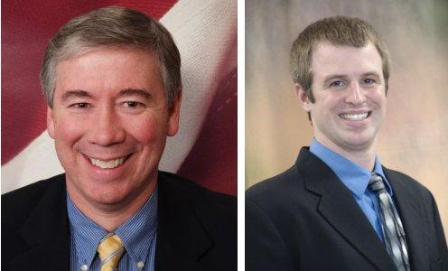 Republican candidate for Allen County Council Tom Harris and Democrat Evan Smith for the 84th Indiana House District.