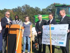 Groundbreaking ceremony at Indiana's First Boundless Playground Site.  Courtesy photo.