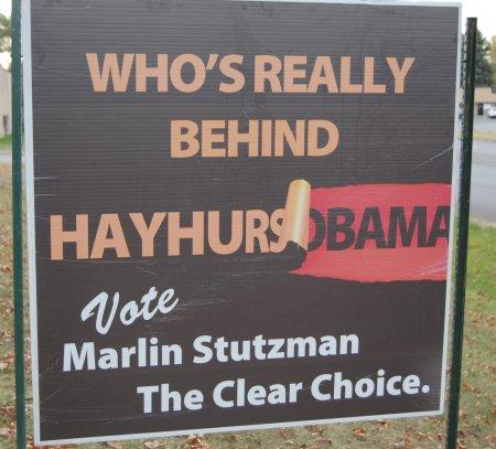 Courtesy photo of the questionable campaign sign.