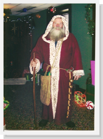 Father Christmas.  Photo courtesy of Allen County.