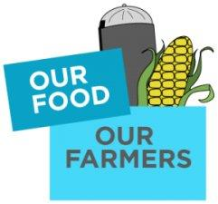 Our Farmers, Our Food logo.