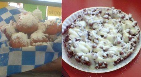 Deep fried Kool Aid and Red Velvet Funnel Cake - new at the Three Rivers Festival this year.