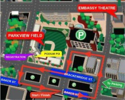 Parkview Cycling Festival course map