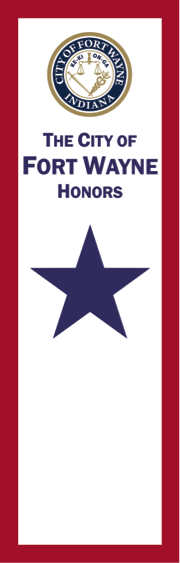 Sample image of Blue Star Banner, courtesy of the City of Fort Wayne.