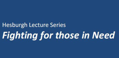 Hesburgh Lecture Series logo
