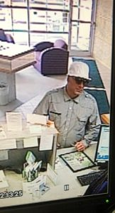 Partners First Credit Union robbery suspect. Photo courtesy of the Fort Wayne Police Department.
