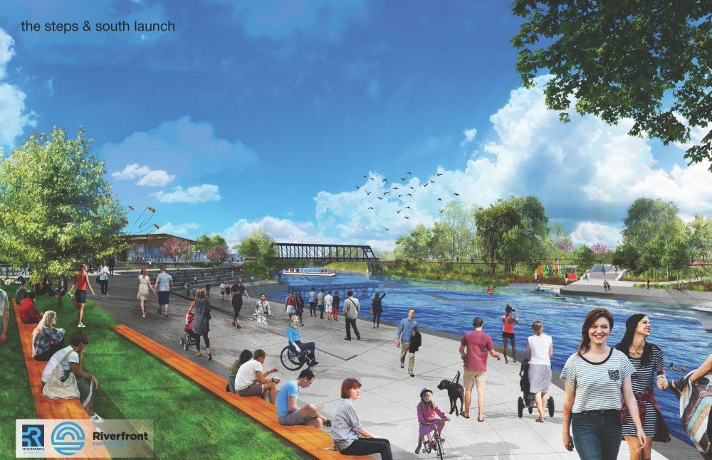Rendering of the downtown riverfront development