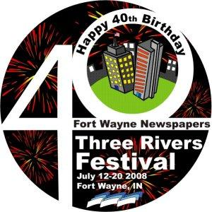 The 2008 Three Rivers Festival Logo