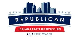 2014 Fort Wayne Indiana Republican State Convention logo.