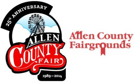 25th Allen County Fair logo.
