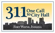 3-1-1 One Call To City Hall Logo