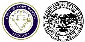 City of Fort Wayne and Allen County Board of Commissioners seals.