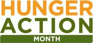 Hunger Action Month logo.