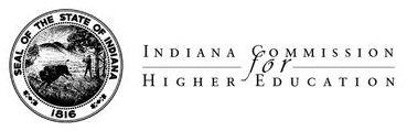 Indiana Commission for Higher Education logo.