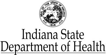Indiana State Department of Health logo.