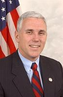 US Congressman Mike Pence.  Courtesy photo from his official website.