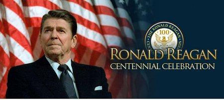 Ronald Reagan Centennial Celebration logo.