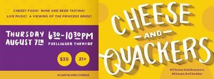 SCAN Cheese and Quackers logo.