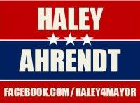 Haley4Mayor campaign sign.