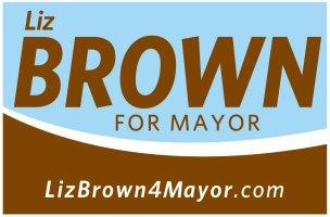 Liz Brown campaign sign.